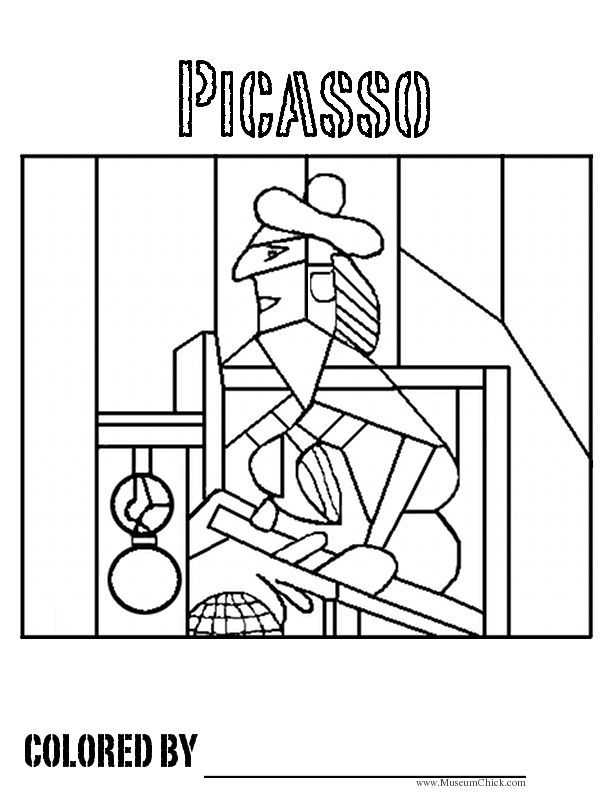 7 Images Of Picasso Art Coloring Pages Printable Picasso Coloring Art Handouts Kids Art Projects