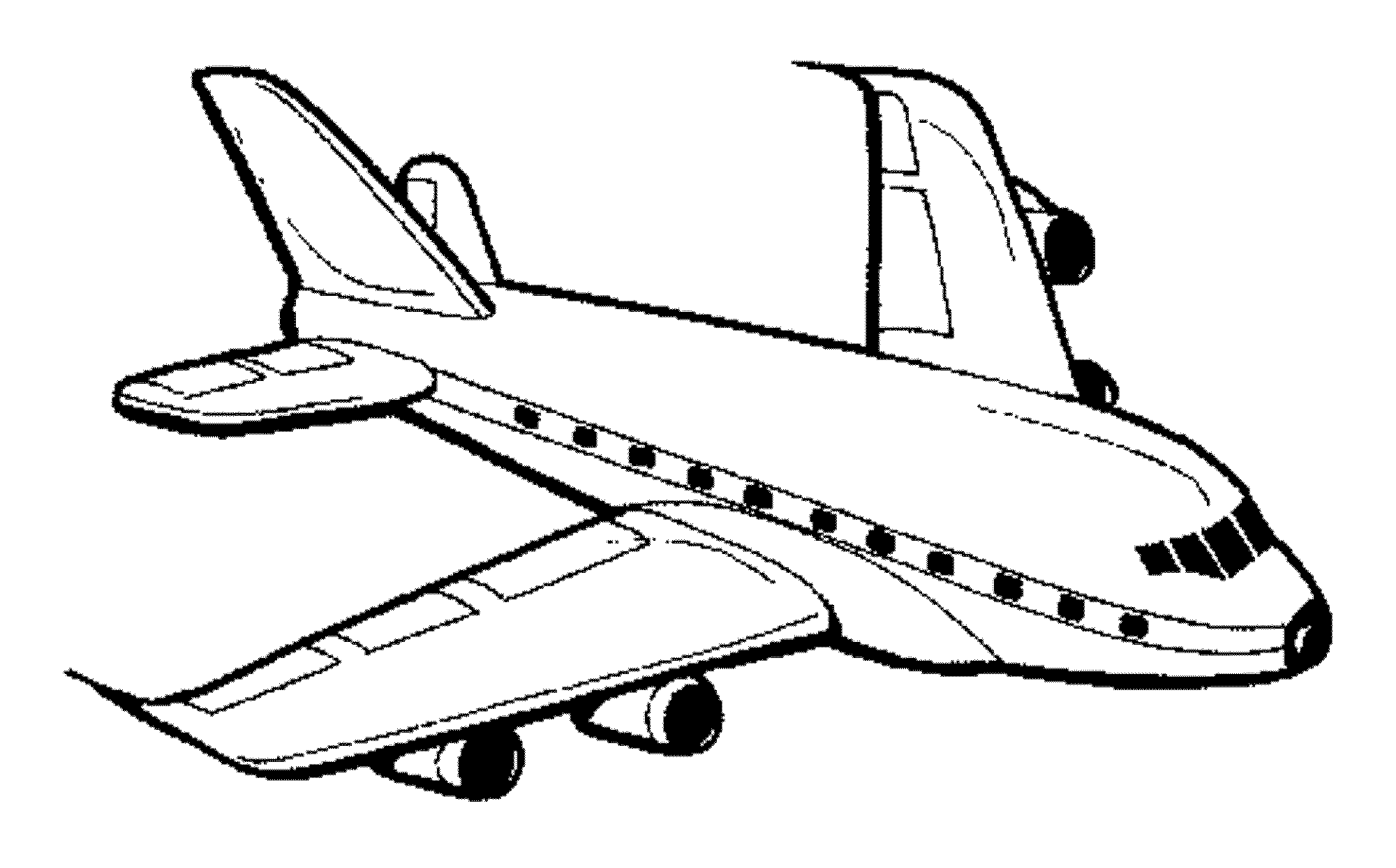 Airplane Coloring Page Bestofcoloring