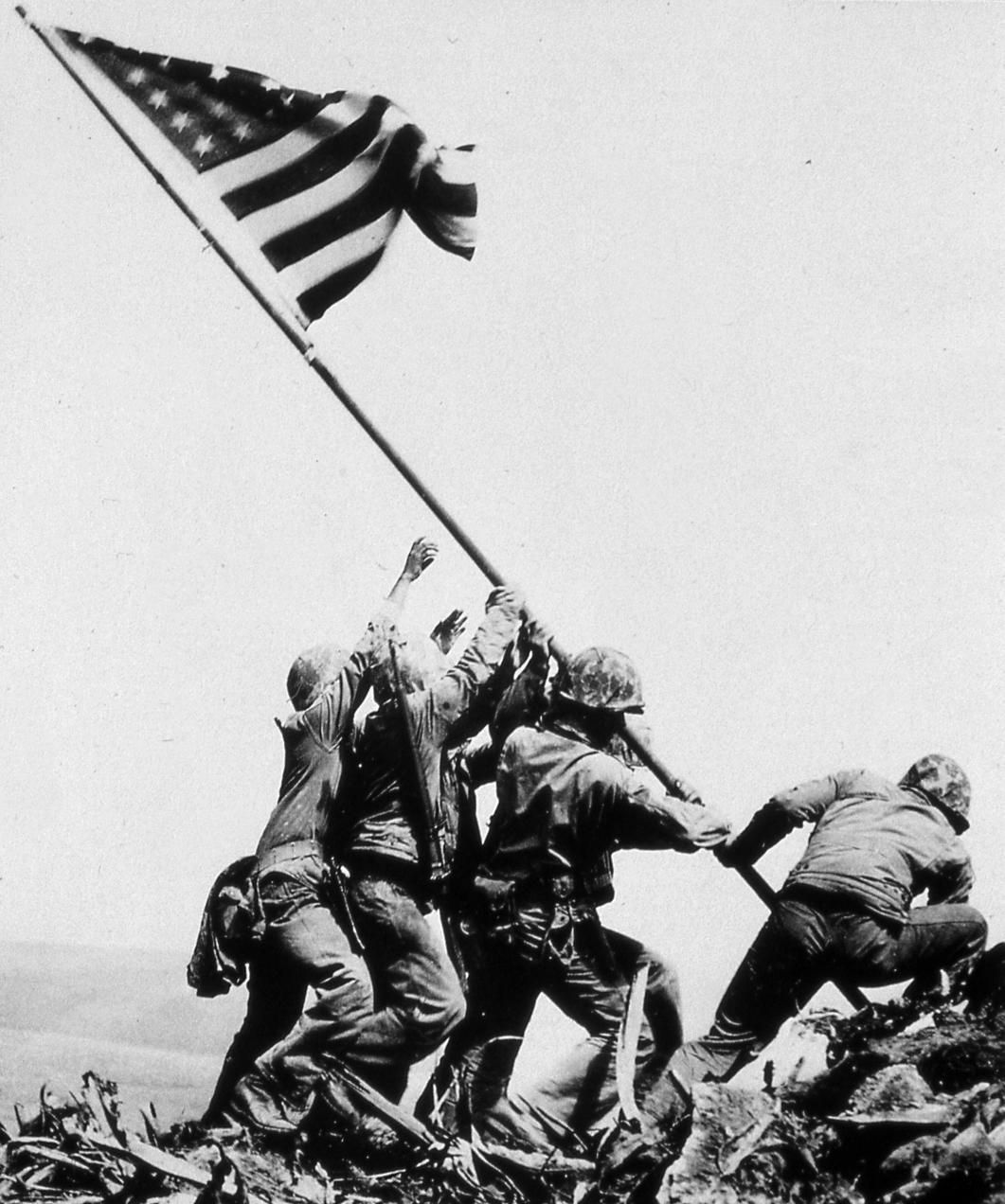 Image result for american standard at iwo jima silhouette