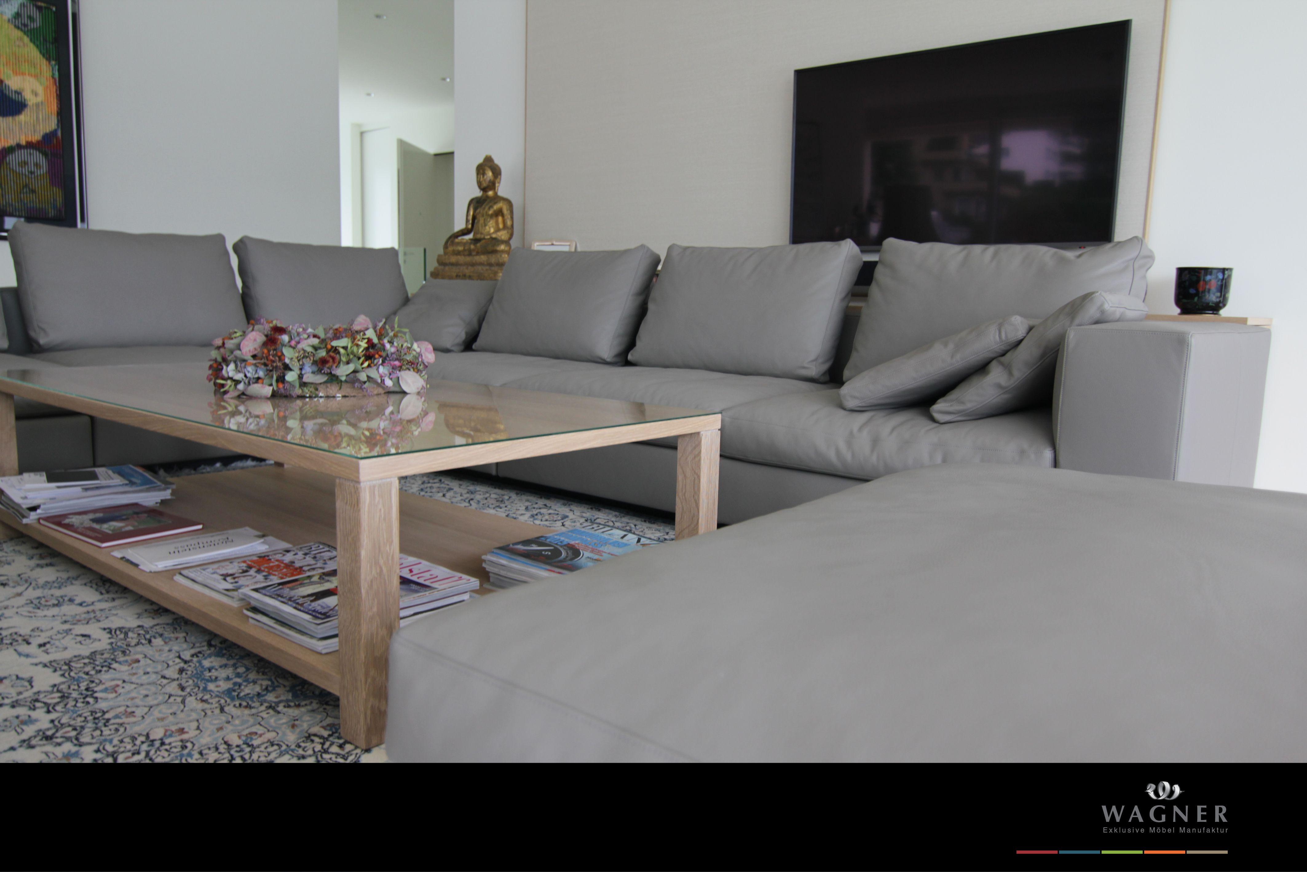 Wohnzimmer-Couch aus Leder