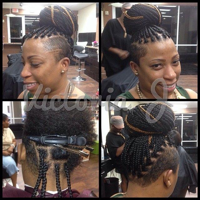 Mohawk Medium Box Braids Hair Pinterest Medium Box