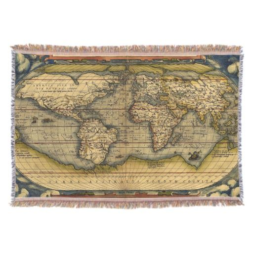 Old World Map Rugs Throw Blanket Map Rug - Old world map rug
