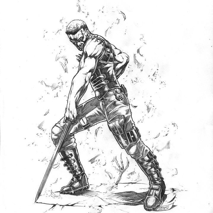 Blade Illustrated By Canaan White Marvel Marvelcomics