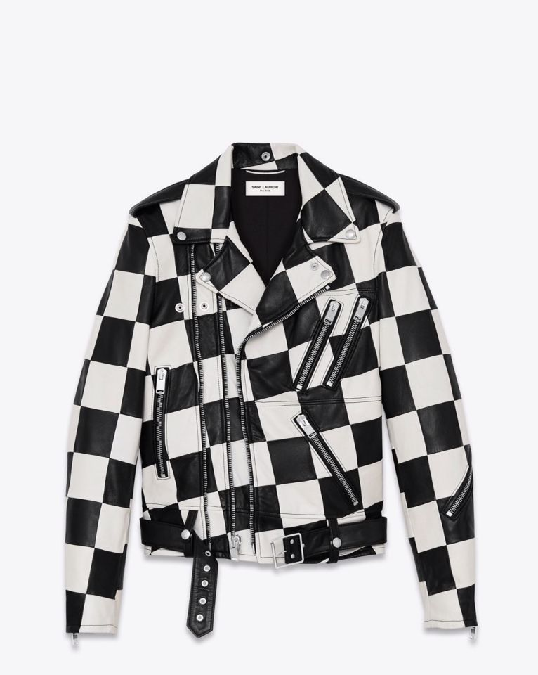 1477d7ab0 Saint Laurent checkered leather jacket. This is literally my ...