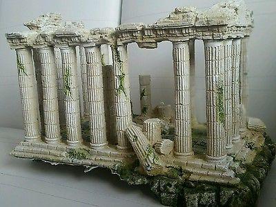 Large roman ruins building aquarium ornament fish tank for Large fish tank ornaments