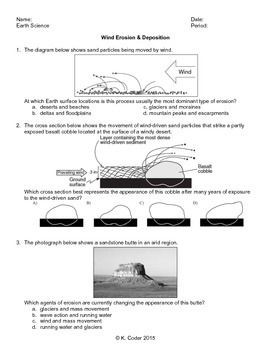 Worksheet Wind Erosion And Deposition With Answers Explained