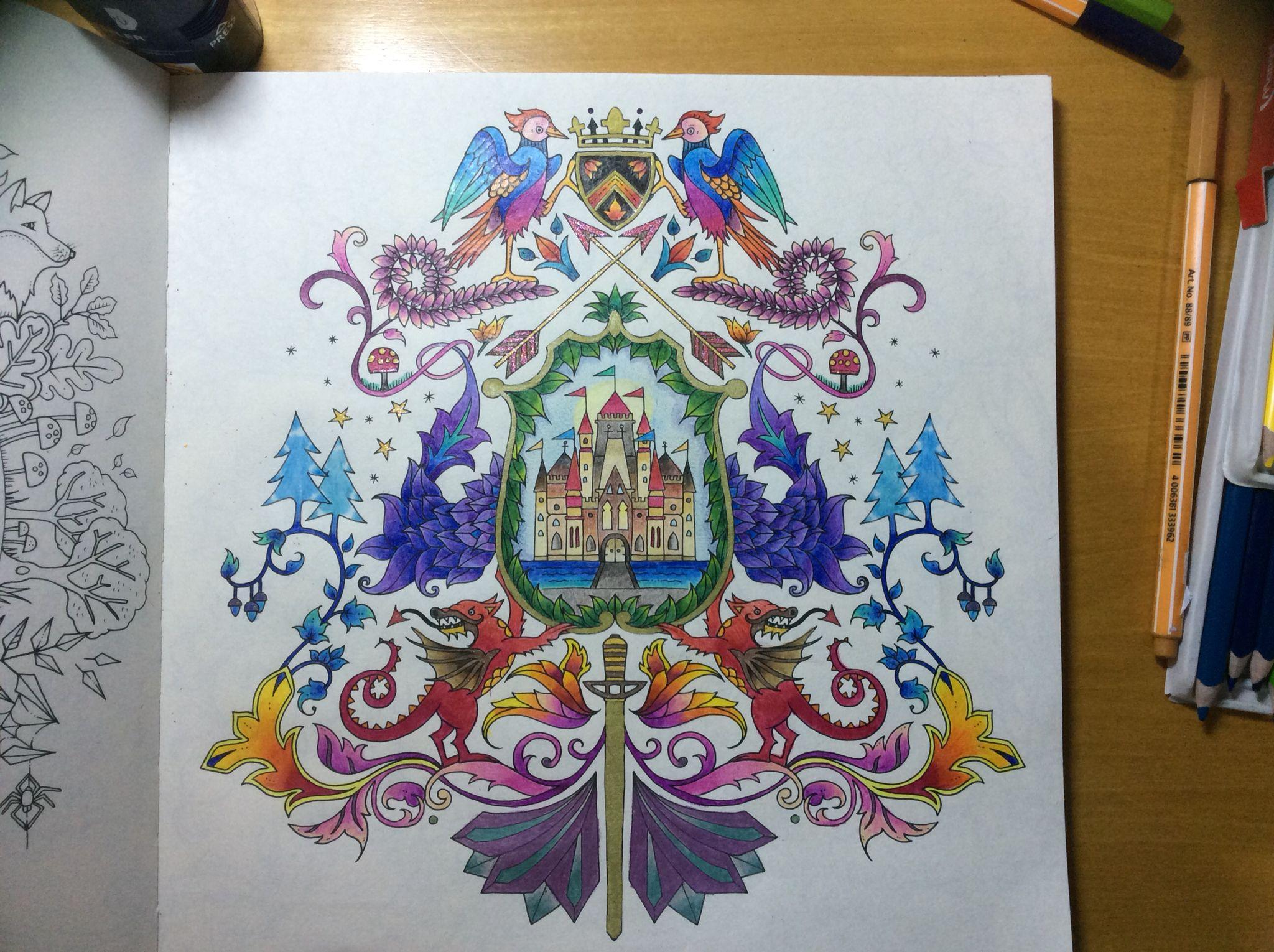 Zendoodle coloring enchanting gardens - Floresta Encantada Coloring
