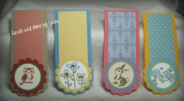 '4 Handmade Magnetic Bookmarks' is going up for auction at  9am Sat, Nov 3 with a starting bid of $5.  @Tophatter