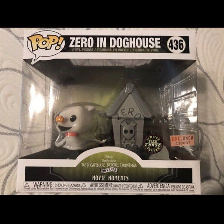 Disney Nightmare Before Christmas Zero In Doghouse Movie Moment