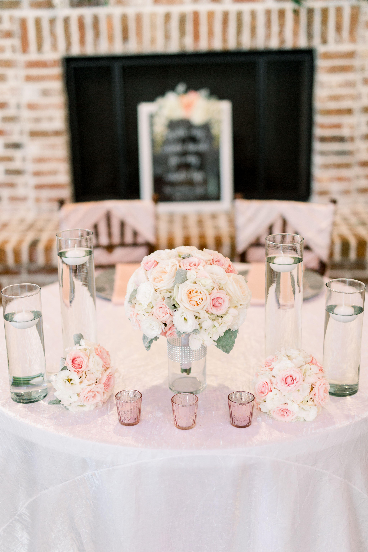 Blush Pink Wedding Decor Ideas Blush Pink Wedding Sweetheart Table De Floating Candles Wedding Pink Wedding Decorations Wedding Reception Table Decorations