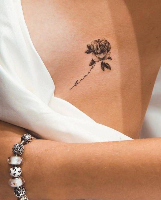 70+ Simply of Beautiful Flower Tattoo Zeichenideen für Frauen – Willkommen bei Pin World