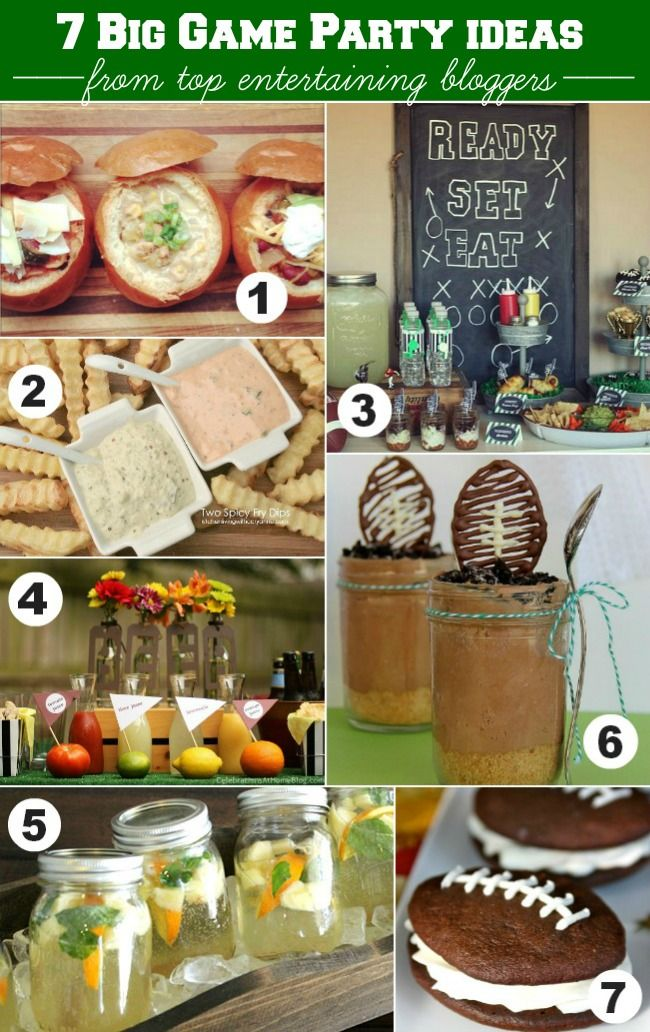BIG GAME PARTY IDEAS FROM 7 TOP ENTERTAINING BLOGGERS  #HostessHQ