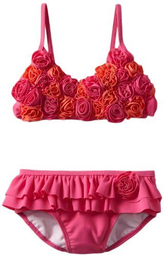 3be463ba0 Amazon.com: Hartstrings Girls 2-6X Little Triangle Top Two Piece Bathing  Suit: Clothing