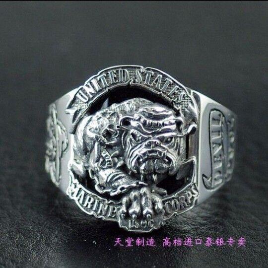 USMC US Marine Corps Fleet Marine Force.925 solid  licensed size 10 ring