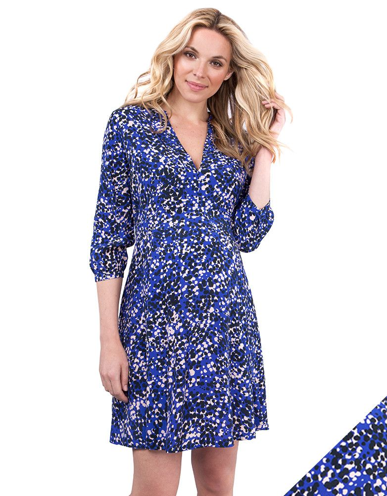 Our stylish blue maternity dress is a must-have for your new ...
