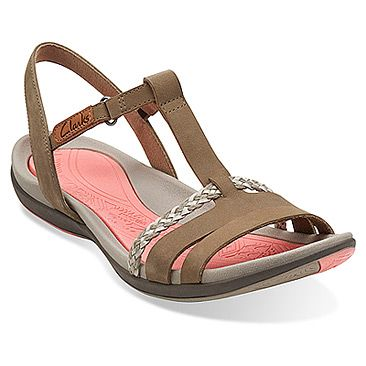 Clarks Womens Tealite Grace Stone Nubuck 8 M * Special product just for you.
