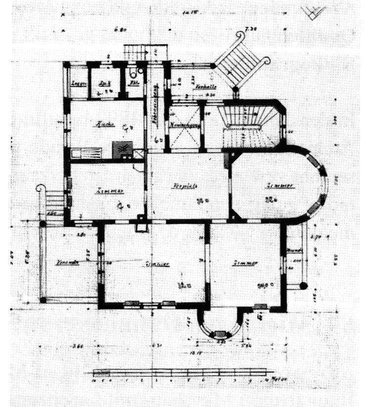 villa clausnitzer gerokstr 1 stuttgart grundriss von 1898 architecture floorplans. Black Bedroom Furniture Sets. Home Design Ideas