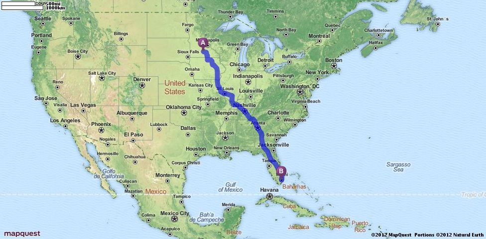 Hoyer Minnesota Map.Driving Directions From Mankato Minnesota To Miami Florida
