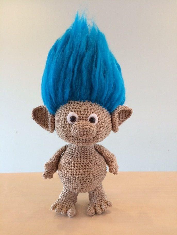 Classic Troll Amigurumi Crochet Pattern | puppen_selbst_gemachz ...