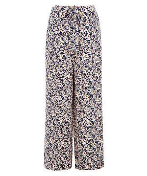 1a9a4224a23 Blue Ditsy Floral Print Wide Leg Trousers | New Look | Wish list ...