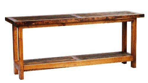 5-Foot Rustic Barnwood Reclaimed Wood Sofa Table, 60-Inch by ...