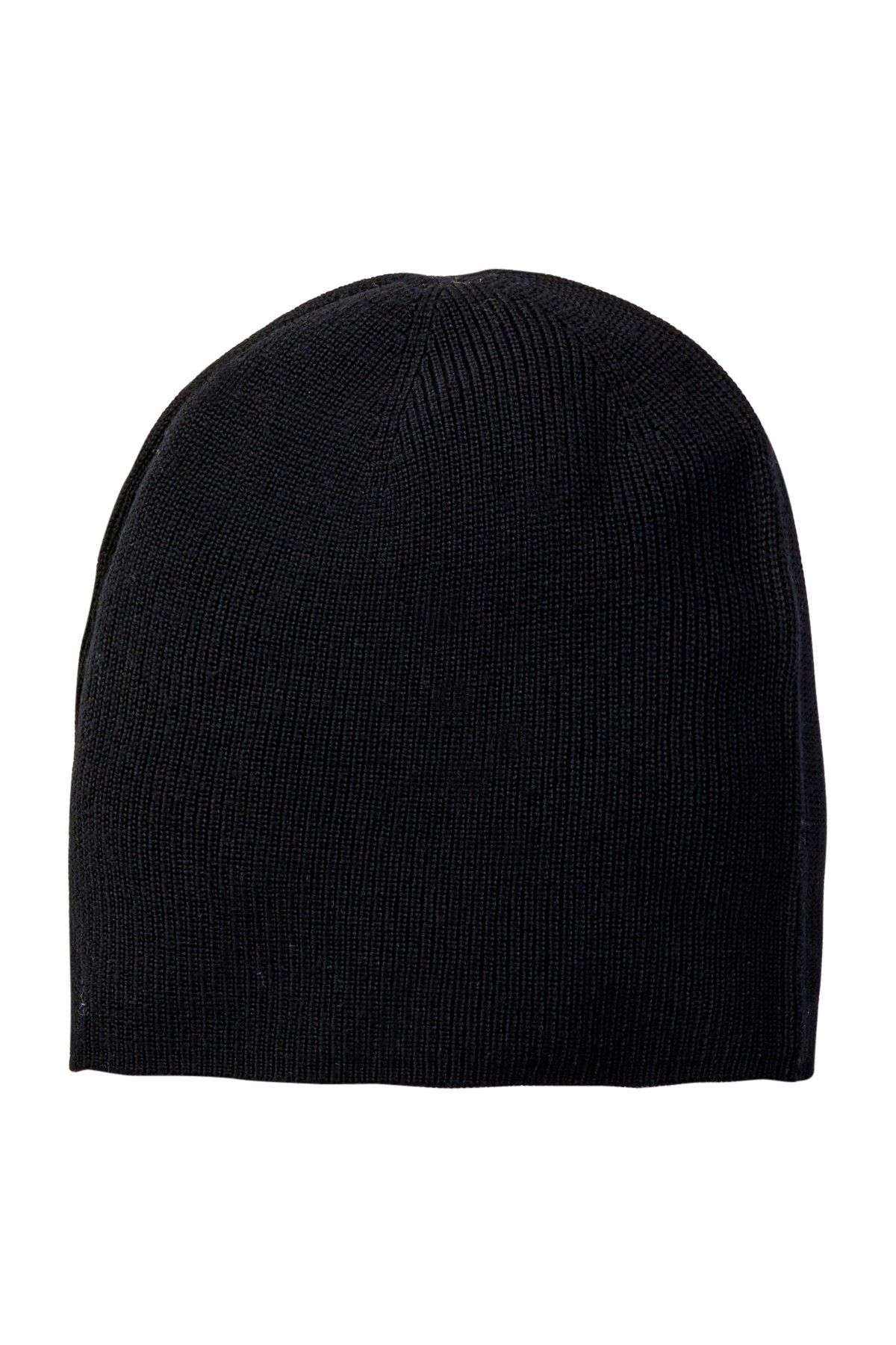 Half Cardigan Merino Wool Beanie