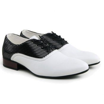 $29.78 Fashion Pointed Toe and Splicing Design Men's Formal Shoes