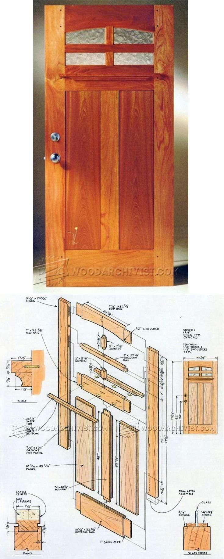Front Door Plans Door Construction And Techniques Woodarchivist Com Door Plan Woodworking Projects Diy Wooden Projects