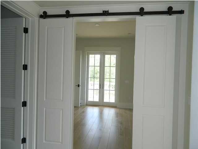 Split Sliding Doors Barn Door In House Interior Barn