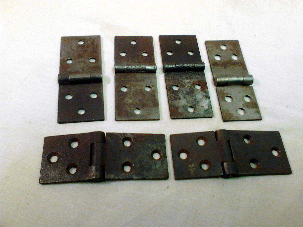 Set Of 6 Antique Steel Drop Leaf Table Hinges Circa 1920 Stanley
