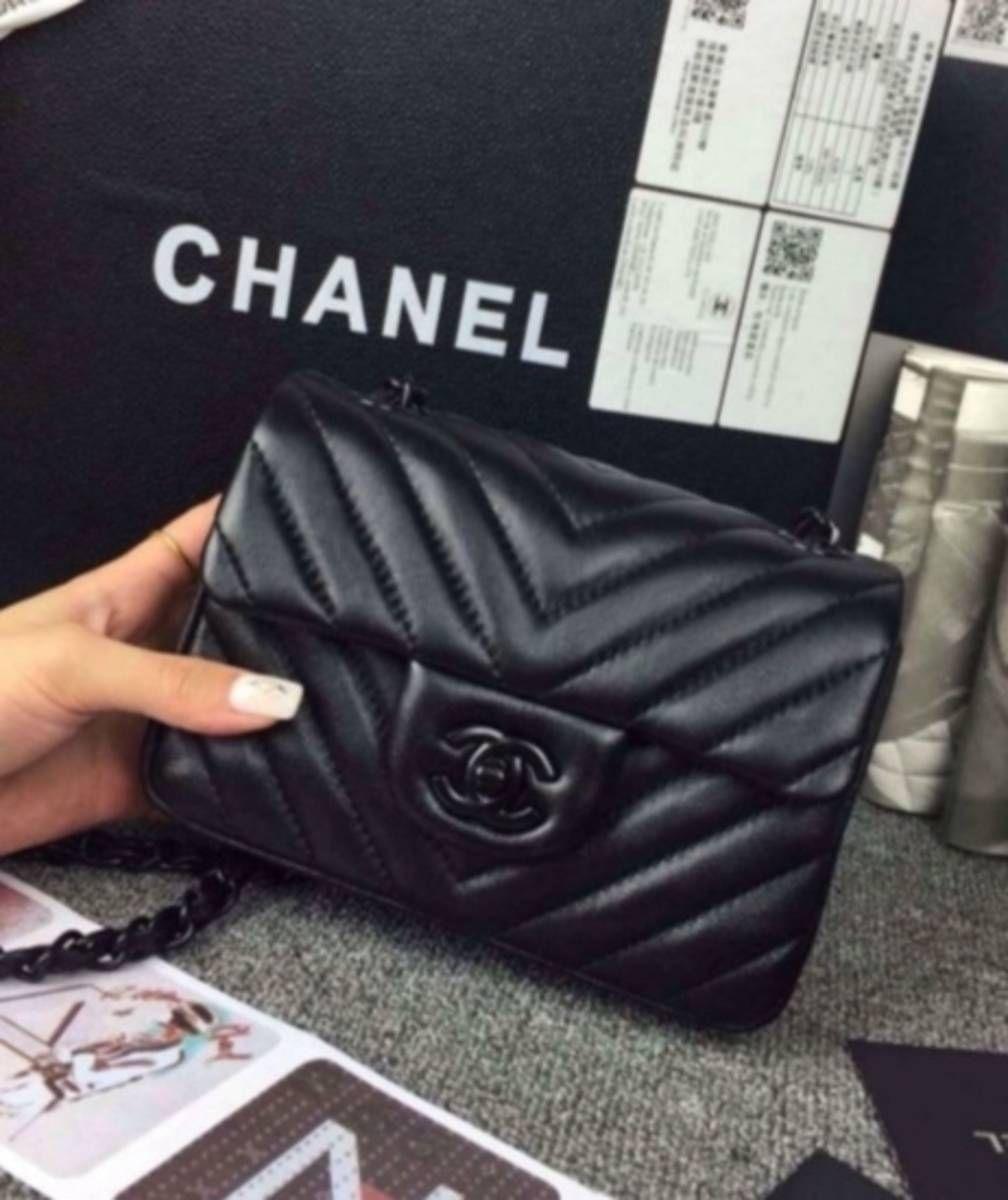 d2e21aa58 chanel chevron black mini classic flap 2.55 - ombro chanel | MODA ...
