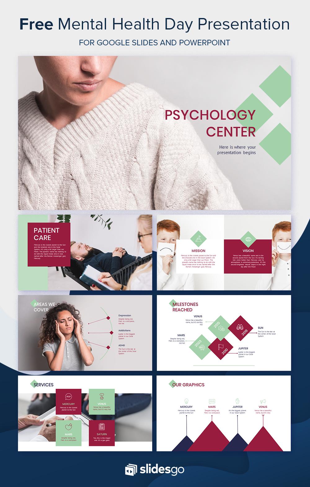 Psychology Center Psychology Center Free Ppt Template Psychology