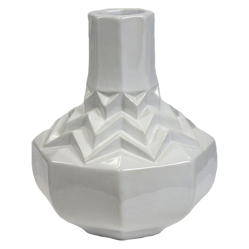 Sagebrook Home 975 In Ceramic Decorative Table Vase White
