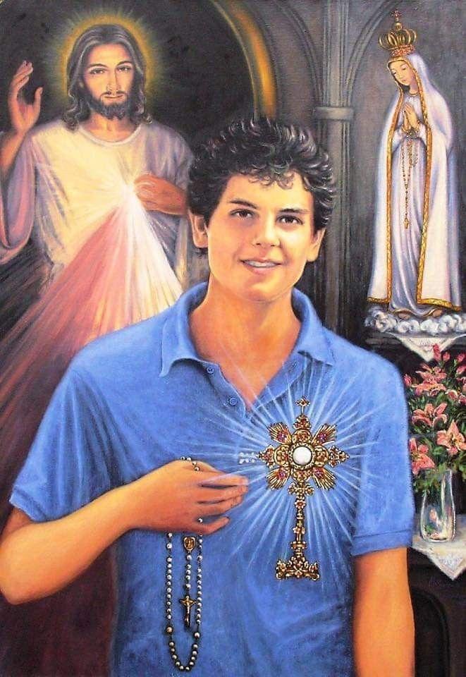 Carlo Acutis Santo Catolico Catolicismo Arte Catolica