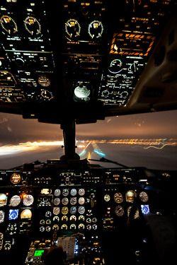 Cockpit Airplane Take Off Landing Runway Airport Air Travel