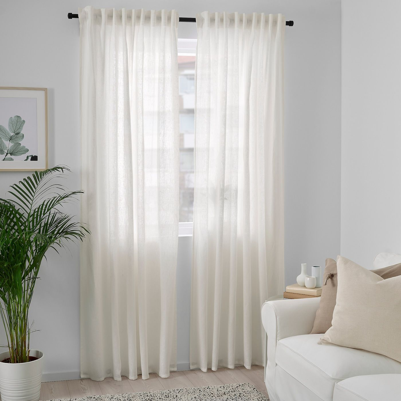 Dytag Curtains 1 Pair White Ikea In 2020 Sheers Curtains Living Room White Sheer Curtains Living Room White Curtains Living Room #off #white #living #room #curtains