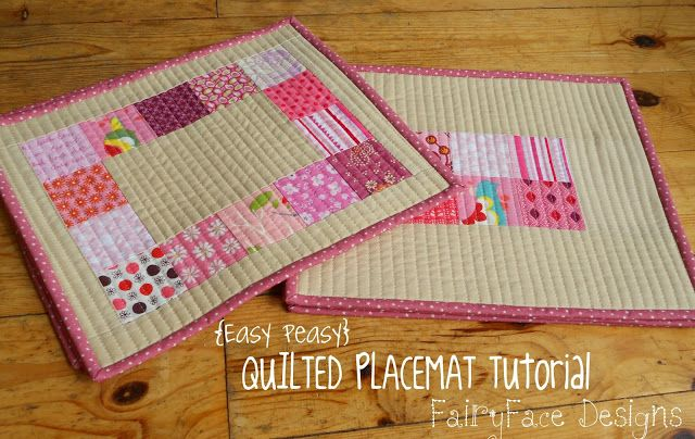 FairyFace Designs: {Easy Peasy} Quilted Placemats Tutorial
