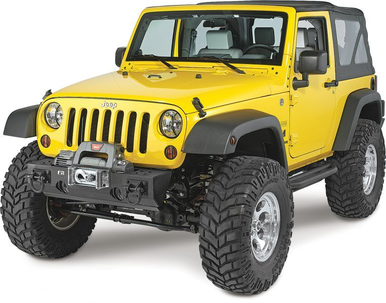 Rugged Ridge Winch Mount Modular XHD Front Bumper In Textured Black For  07 16 Jeep