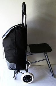 Superb Trolley Bag Folding Chair Seat Travel Shopping Fishing Pdpeps Interior Chair Design Pdpepsorg