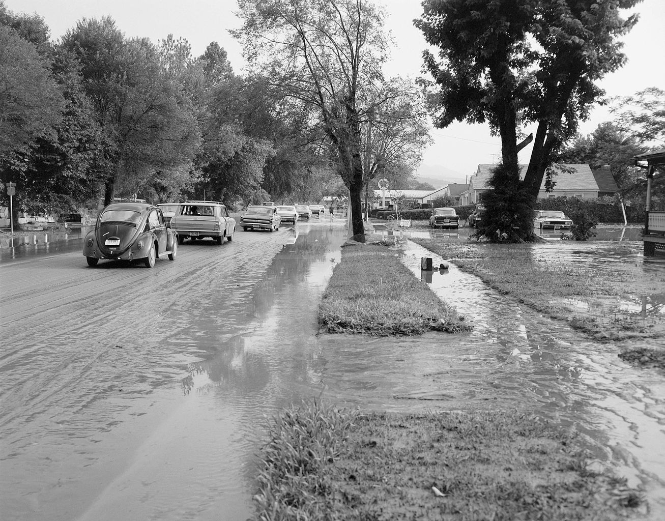 Flooding In Buena Vista Caused By The Passage Of Hurricane Camille Through The Area Aerial View Virginia Virginia History