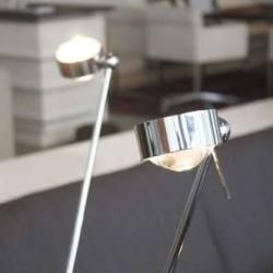 Photo of Top Light Puk floor sister floor lamp chrome matt 4x linen matt Led Top LightTop Light