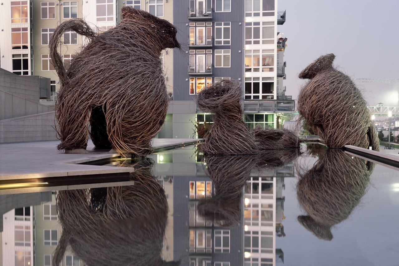 Patrick Dougherty Willow Sculptures... fanciful, whimsical