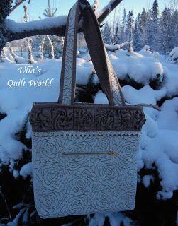 Quilt Mondo di Ulla: girava Roses Quilt Tutorial, borsa