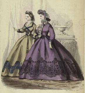 Museo Nacional de la Historia del Traje, Buenos Aires - Argentina: Dress Circa 1864