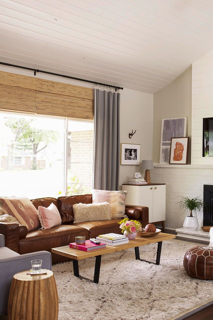 17 Stunning Ways To Decorate With A Brown Sofa Brown Living