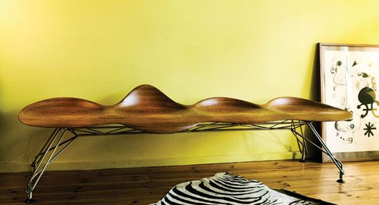gorgeous bench made to mimick the way water and wind shape on extraordinary creative wooden furniture design id=46089