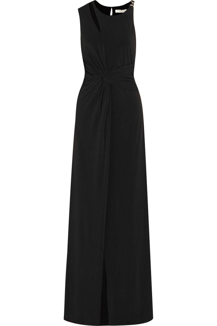 HALSTON HERITAGE Cutout Stretch-Jersey Gown. #halstonheritage #cloth ...