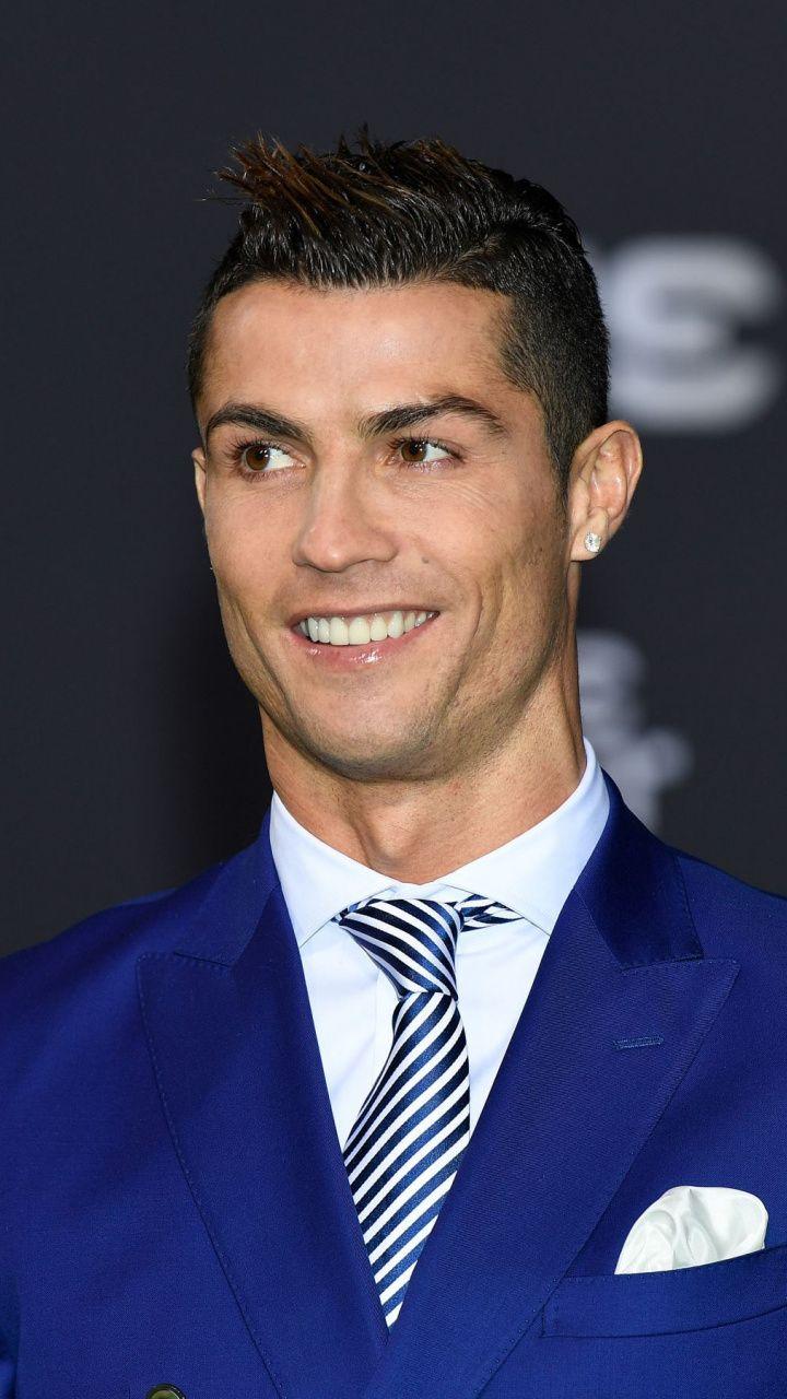 720x1280 Blue Suit Cristiano Ronaldo Smile Wallpaper Lve
