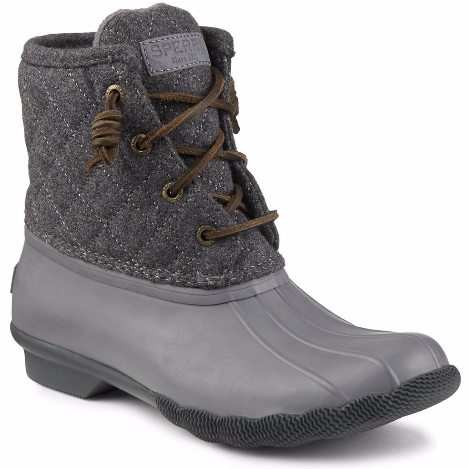 c82315b786d SPERRY Saltwater Quilted Wool Women | Grey | Shoes | Duck boots ...