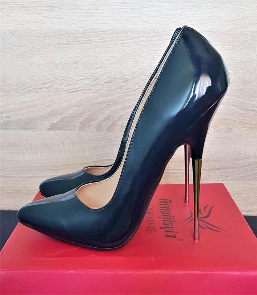 6e614bbb912 Extreme High Heels aus Lack, 16 cm Pumps [Blau] - Größe 35 bis 41 in Berlin  - Rudow